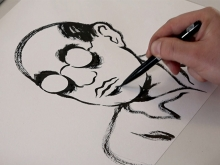 Dietrich-Bonhoeffer-Zeichnung von Moritz Stetter